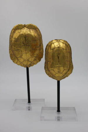 Gold Turtle Shell Statues