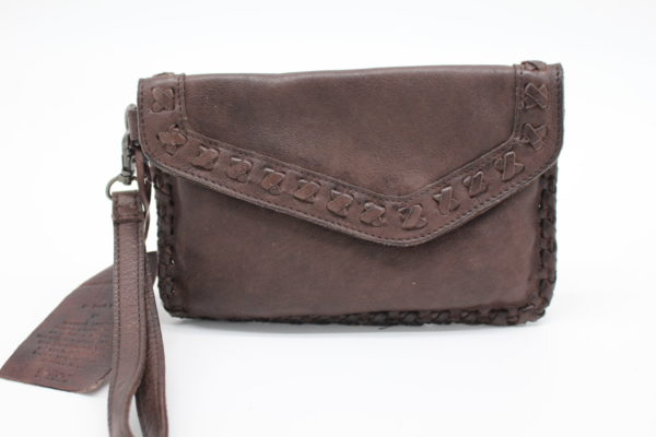 Marlin Leather Chocolate Clutch