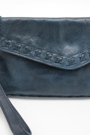Marlin Leather Navy Clutch