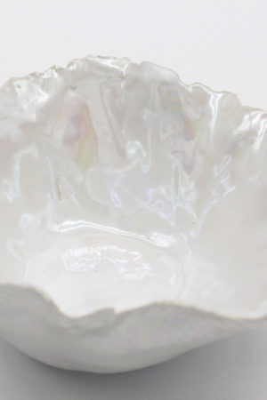 Iridescent White Bowl