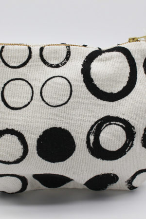 Canvas Black and White Pouch